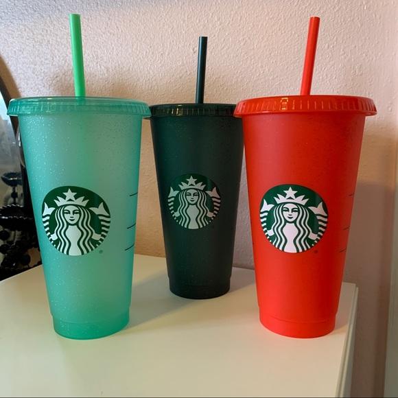 New Starbucks glitter cold cups (3)